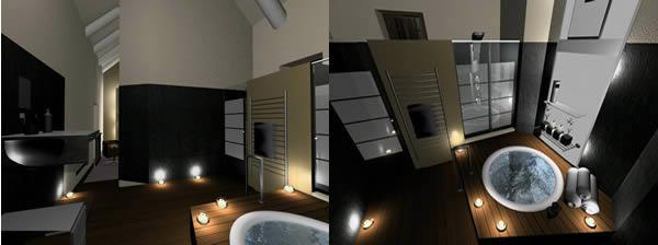 Baño 3d para habitacion de hotel, en Baños – Sanitarios