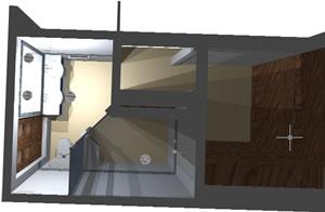imagen Baño con closet vestidor, en Baños - Muebles equipamiento