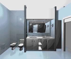 Baño equipado 3d, en Juegos de baño ideal standard 3d – Sanitarios