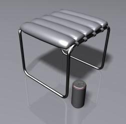 Banqueta 3d, en Oficinas y laboratorios – Muebles equipamiento