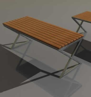 imagen Banqueta 3d, en Sillas 3d - Muebles equipamiento