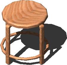 imagen Banquito 3d, en Sillas 3d - Muebles equipamiento