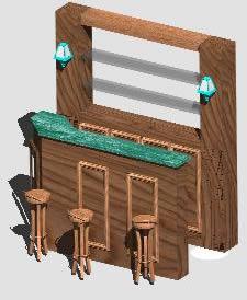 imagen Bar 3d, en Bares y restaurants - Muebles equipamiento