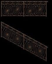 Planos de Baranda artística 3d, en Barandas – Escaleras