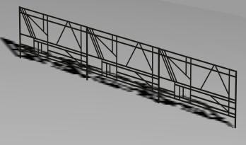 Planos de Baranda metálica 3d, en Barandas – Escaleras