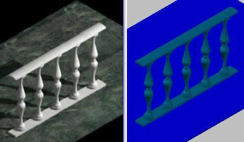 Planos de Baranda ornamental, en Barandas – Escaleras