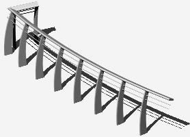 imagen Barandal 3d, en Barandas - Escaleras