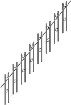 Planos de Barandal escalera 3d, en Barandas – Escaleras