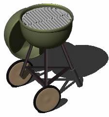 imagen Barbacoa - asador transportable - 3d, en Quinchos - churrasquerías - cocinas alternativas - Parques paseos y jardines