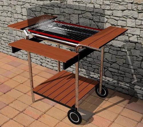 imagen Barbacoa rectangular. 3d, en Quinchos - churrasquerías - cocinas alternativas - Parques paseos y jardines