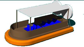 Planos de Barcaza 3d, en Embarcaciones – Medios de transporte