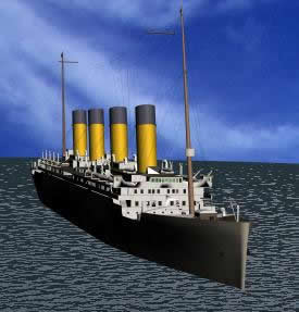 Barco 3d modelo titanic, en Embarcaciones – Medios de transporte