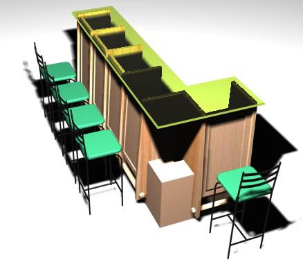 Barra 2, en Bares y restaurants – Muebles equipamiento