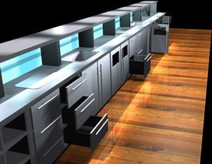Barra, en Bares y restaurants – Muebles equipamiento