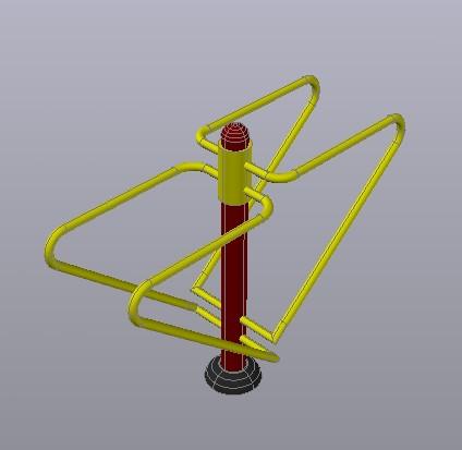 Planos de Barras paralelas 3d bioparque, en Equipamiento gimnasios – Deportes y recreación