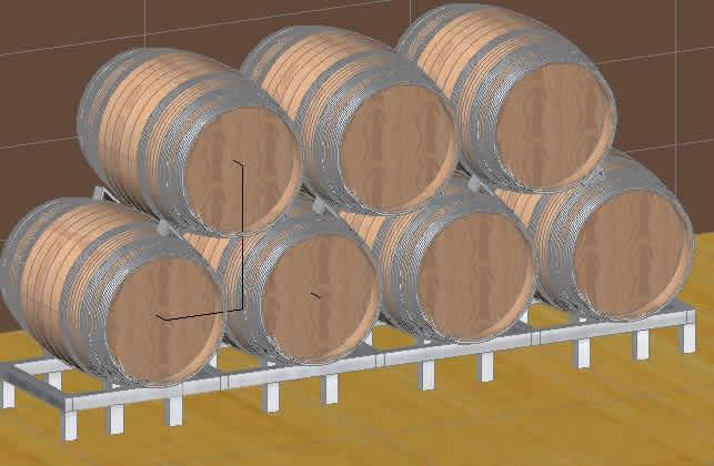 imagen Barriles de vino, en Objetos varios - Muebles equipamiento