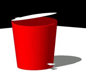 Planos de Basurero plastico 3d, en Objetos varios – Muebles equipamiento