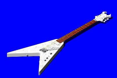 Planos de Bc rich kerry king v – modelo 3d guitarra, en Instrumentos musicales – Muebles equipamiento