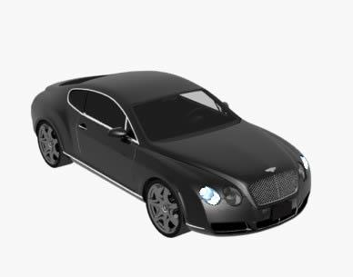 imagen Bentleycontinent automovil, en Automóviles en 3d - Medios de transporte
