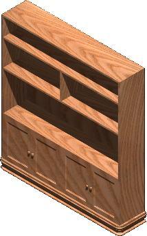 Planos de Biblioteca 3d con materiales, en Estanterías y modulares – Muebles equipamiento