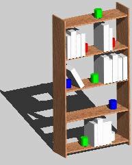 Planos de Biblioteca pequeña 3d, en Educación – Muebles equipamiento