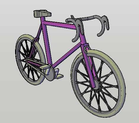 imagen Bicicleta 3d, en Motos y bicicletas - Medios de transporte