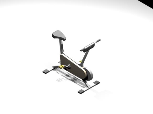 Bicicleta 3d, en Proyectos gimnasios – Deportes y recreación