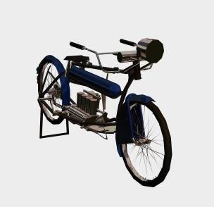 Bicicleta con motor 3d, en Motos y bicicletas – Medios de transporte