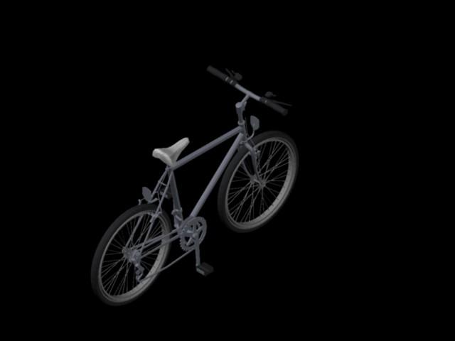 Planos de Bicicleta de montaña 3d, en Equipamiento gimnasios – Deportes y recreación