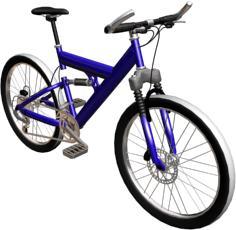 Bicicleta de montaña en 3d, en Motos y bicicletas – Medios de transporte