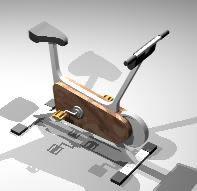 imagen Bicicleta fija 3d, en Equipamiento gimnasios - Deportes y recreación