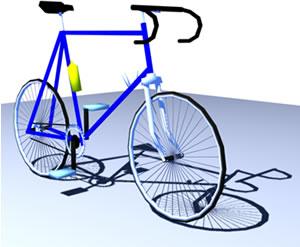 Bicicleta pistera 3d, en Motos y bicicletas – Medios de transporte