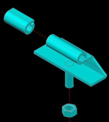 Planos de Bisagra liviana 3d, en Herrajes cerraduras tornillos – Aberturas