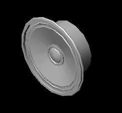 Planos de Bocina, en Componentes 3d – Electrónica