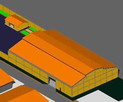 Planos de Bodega en 3d, en Galpones – Proyectos