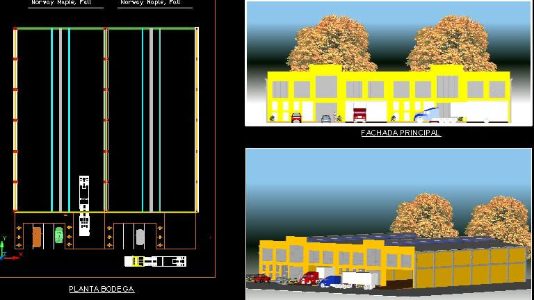 Planos de Bodegas en 3d, en Galpones – Proyectos