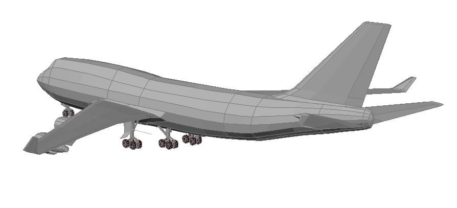 Planos de Boeing 3d, en Aeronaves en 3d – Medios de transporte