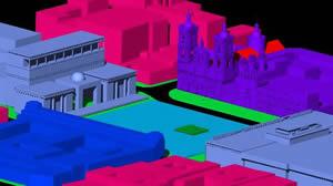 Planos de Bogota – centro historico – plaza de bolivar – modelo 3d, en Colombia – Diseño urbano