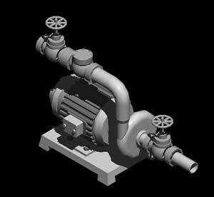 Planos de Bomba 3d, en Equipos de bombeo – Máquinas instalaciones