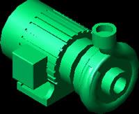 Planos de Bomba centrifuga, en Equipos de bombeo – Máquinas instalaciones