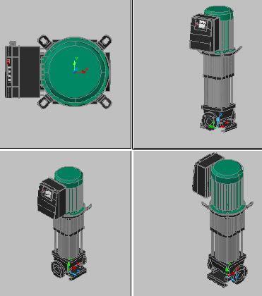 Planos de Bomba tipo grundfos 3d