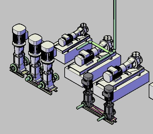 imagen Bombas centrifugas 3d, en Equipos de bombeo - Máquinas instalaciones