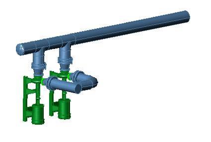 imagen Bombas de agua con valbulas de 10 pulg, en Salas de máquinas - Instalaciones