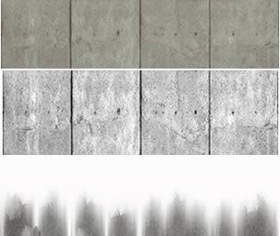 Bordillo acera, en Revoques y estucos – Texturas