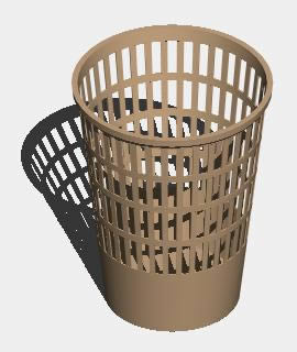 Planos de Bote de basura 3d, en Objetos varios – Muebles equipamiento