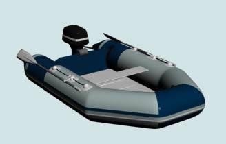 Bote inflable 3d, en Embarcaciones – Medios de transporte