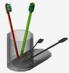 Planos de Bote y cepillos dientes 3d, en Baños – Muebles equipamiento