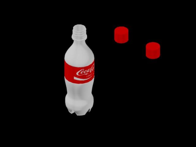 Planos de Botella 3d – coca – cola, en Esculturas – Varios