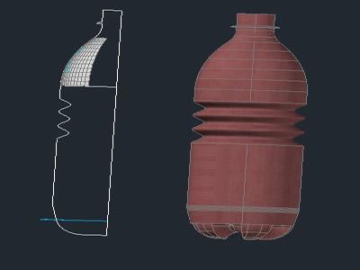 Planos de Botella modelo, en Ejercicios varios – Dibujando con autocad
