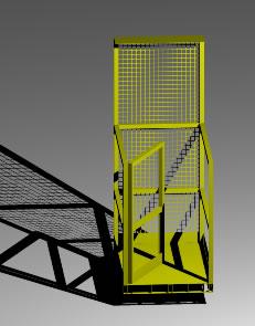 Box de seguridad para carretillas elevadoras 3d, en Maquinaria – Obradores